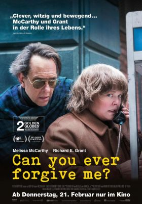 Filmposter 'Can You Ever Forgive Me?'